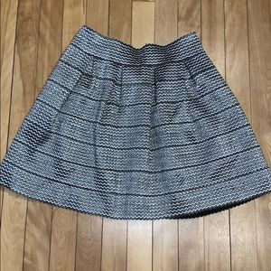 Hippie Love Black and Grey Embroidered Skirt